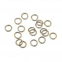 Соединительные кольца, цвет  бронза 0,9 см, 2г
