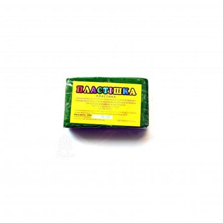 Полимерная глина пластишка/bebik зелёный травяной, 250 г, 0118