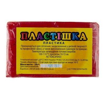 Полимерная глина пластишка/bebik рубин, 250 г, 0109