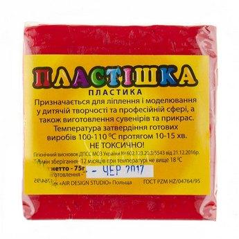 Полимерная глина пластишка/bebik рубин, 75 г, 0109