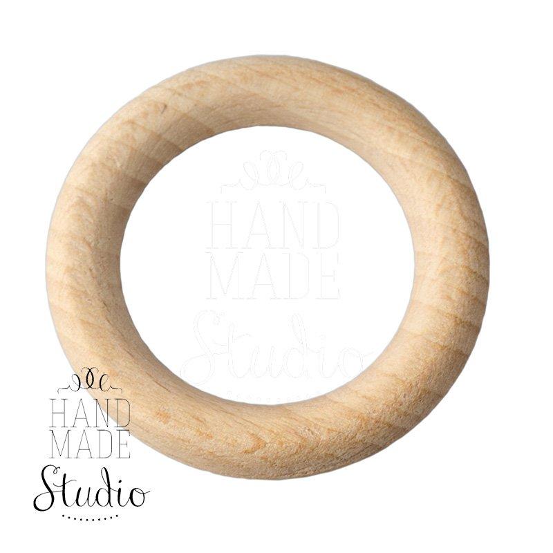 Кольцо деревянное неокрашенное, 54 мм