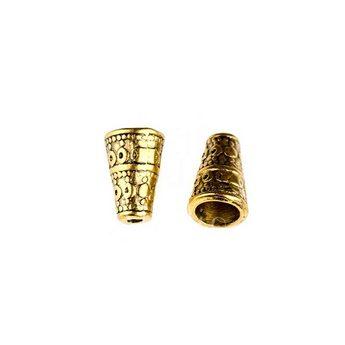 Концевик (конус) шапочка, цвет - античное золото №5
