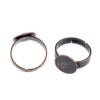 Основа для кольца с  площадкой 1,2 см, цвет - медь