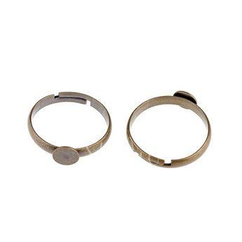 Основа для кольца с платформой 0,6 см, цвет - бронза