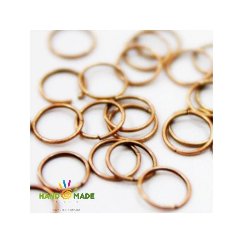 Соединительные кольца, цвет  медь 0,4мм