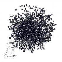 №50 Бисер китайский, цвет - черный, глянцевый