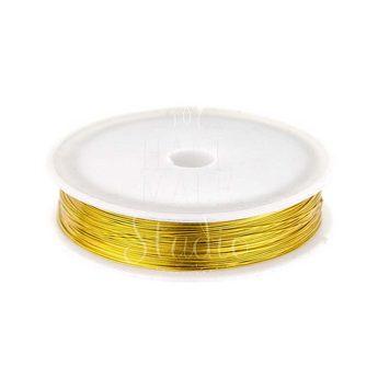 Бижутерная проволока, цвет - золото, диаметр - 0,4 мм