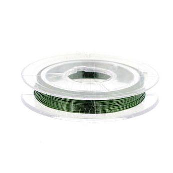 Бижутерная проволока, цвет - зеленый, диаметр - 0,3 мм