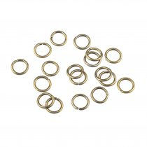 Соединительные кольца усиленные, цвет - бронза 0,7 см