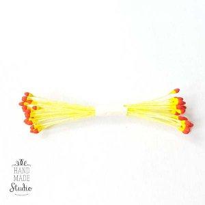 №33 Цветочные тычинки белые с желто-красными концами