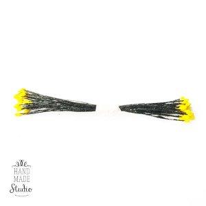 Цветочные тычинки черные с желтыми концами №44