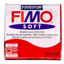 Полимерная глина Fimo Soft, 56г, №2, ярко-красный