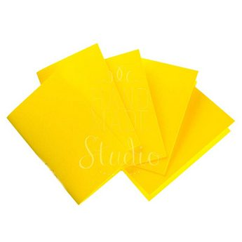 Набор заготовок для открыток 10,3х7см 5шт,№2, цвет желтый,220г/м2