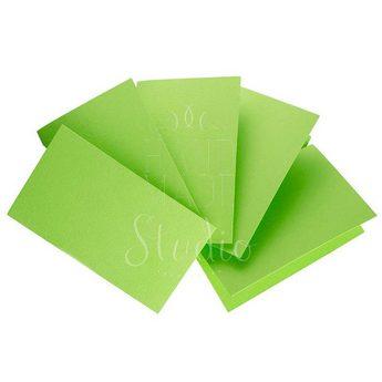 Набор заготовок для открыток 10,3х7см 5шт,№3, цвет салатовый,220г/м2
