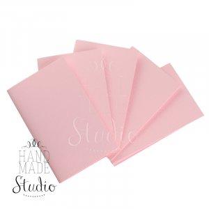 Набор заготовок для открыток 10,3х7см 5шт,№6, цвет светло-розовый,220г/м2