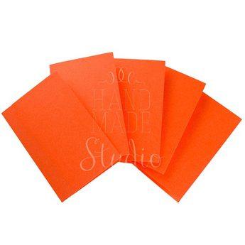 Набор заготовок для открыток 10,3х7см 5шт,№13, цвет оранжевый,220г/м2