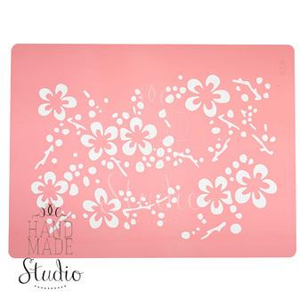 Трафарет Цветы сакуры,14,5х19 см №072