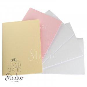 Набор заготовок для открыток 14,8х10,5см 5шт,№7, цвет пастельный микс,220г/м2