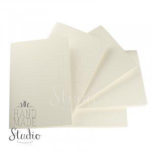 Набор заготовок для открыток 14,8х10,5см 5шт,№2, цвет молочный,300г/м2