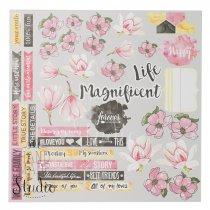 """Лист односторонней бумаги """"Life Magnificent"""", 30,5x30,5 см, 200 г/м2, 1 лист"""