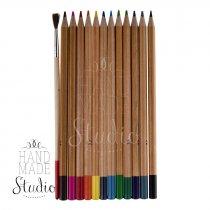 Набор акварельных карандашей с 1 кистью, 12 цв.