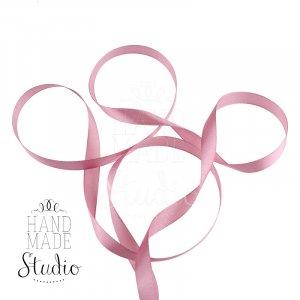 Атласная лента, цвет пудрово-розовый, 12мм