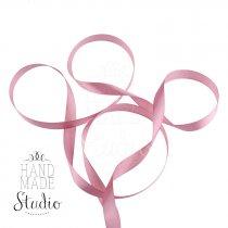 Атласная лента, цвет пудрово-розовый, 12мм, 1м.