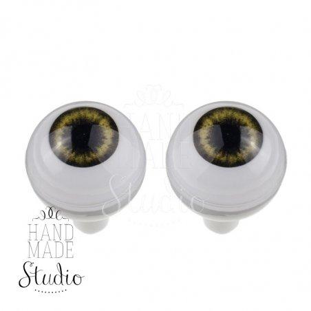 Акриловые глаза для кукол, цвет - желто-серый, 10 мм. Арт. G10LD-05