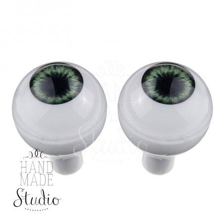 Акриловые глаза для кукол, цвет - зеленые, 14 мм. Арт. G14LD-03