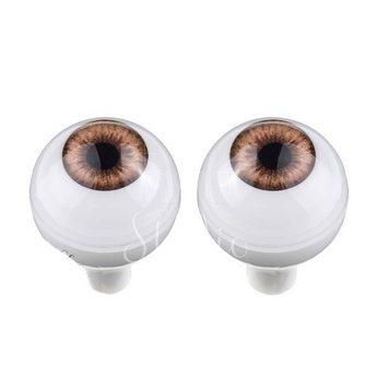 Акриловые глаза для кукол, цвет - светло-коричневые, 14 мм. Арт. G14LD-09
