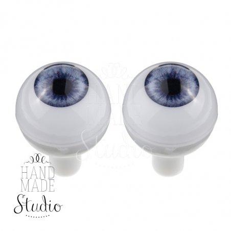 Акриловые глаза для кукол, цвет - голубые, 12 мм. Арт. G12LD-01