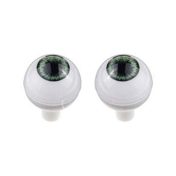 Акриловые глаза для кукол, цвет - зеленые, 12 мм. Арт. G12LD-03