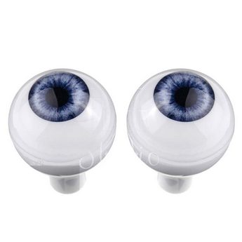 Акриловые глаза для кукол, цвет - голубые, 14 мм. Арт. G14LD-01