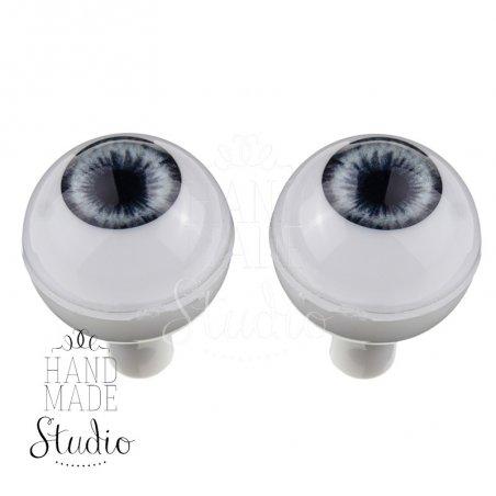 Акриловые глаза для кукол, цвет - серо-голубой, 16 мм. Арт. G16LD-07