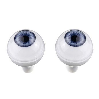 Акриловые глаза для кукол, цвет - голубые, 16 мм. Арт. G16LD-01
