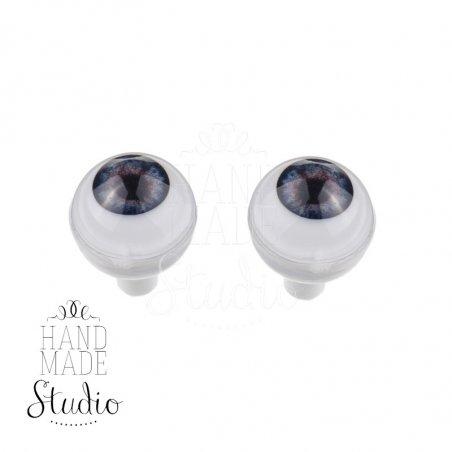 Акриловые глаза для кукол, цвет - темно-фиолетовый, 8 мм. Арт. G8LB-02