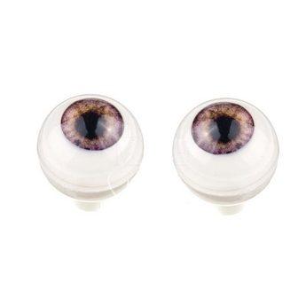 Акриловые глаза для кукол, цвет - жемчужно-фиолетовый, 10 мм. Арт. G10MC-07