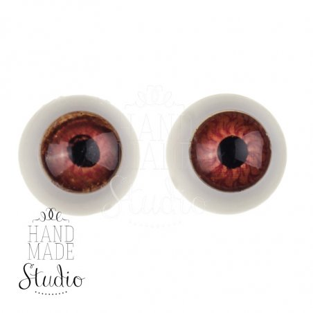 Глаза для кукол карие,Ø12 мм