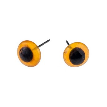 Глазки для игрушек стеклянные 10 мм, цвет - янтарный