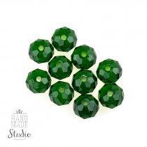 Бусины чешский хрусталь 8 мм, цвет зеленый №61