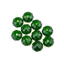 Бусины чешский хрусталь, цвет зеленый №62