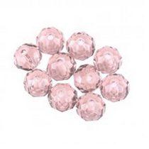 Бусины чешский хрусталь 4 мм, цвет розовый прозрачный №63
