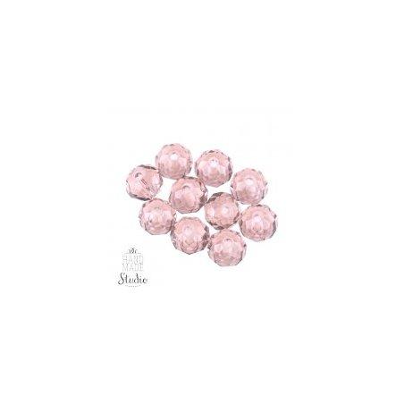 Бусины чешский хрусталь, цвет розовый прозрачный №63