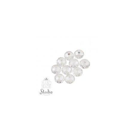 Бусины чешский хрусталь, цвет белый прозрачный №64