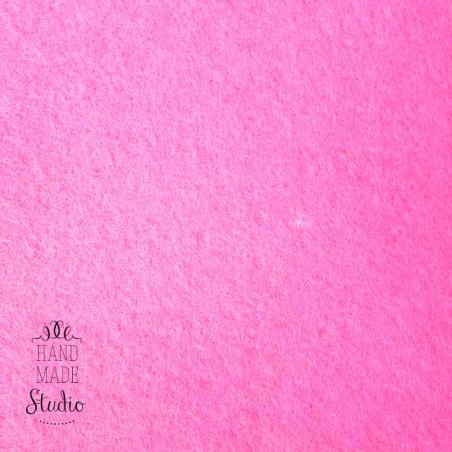 Фетр листовой 3мм, цвет розовый