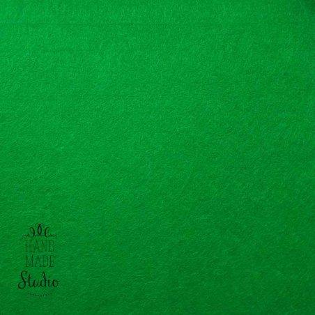 Фетр жесткий 1мм, цвет зеленый