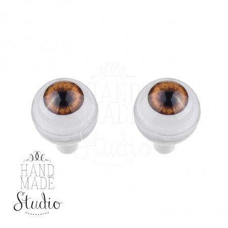 Акриловые глаза для кукол, цвет - светло-карие, 8 мм. Арт. G8LD-09