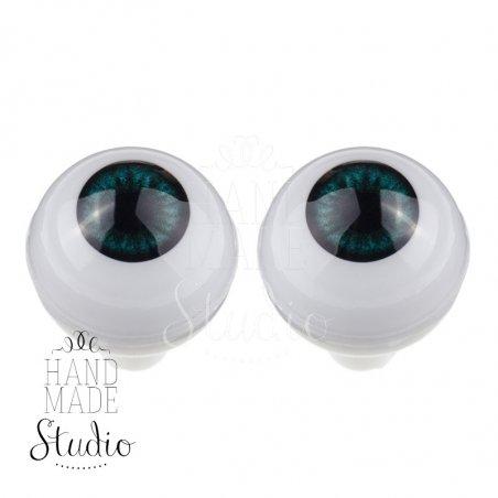 Акриловые глаза для кукол, цвет - бирюзовый, 8 мм. Арт. G8LD-02