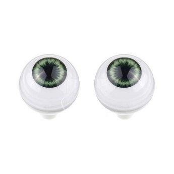 Акриловые глаза для кукол, цвет - зеленые, 10 мм. Арт. G10LD-03