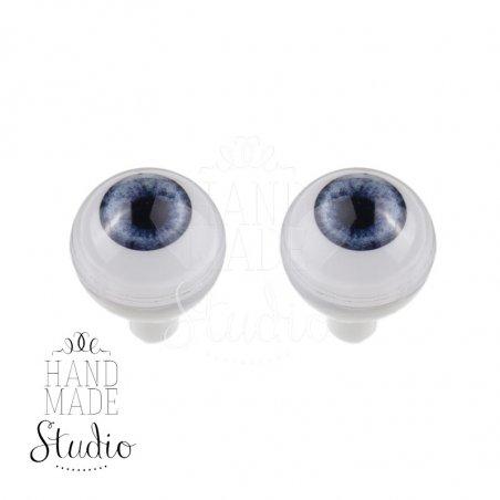 Акриловые глаза для кукол, цвет - голубой, 8 мм. Арт. G8LD-01